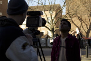 Behind the scenes for the 'Relentless' music video shoot